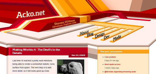 3D Elements in Web Design   design       ShockBlast