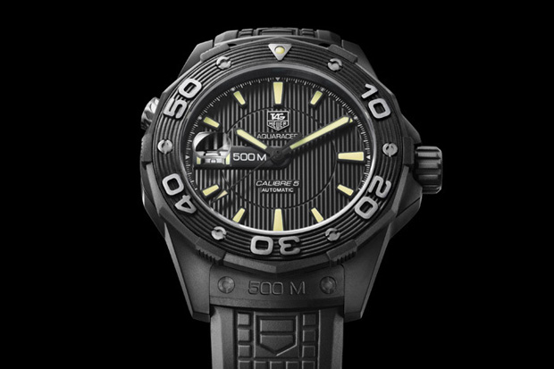 TAG Heuer Aquaracer 500 All Black @ ShockBlast