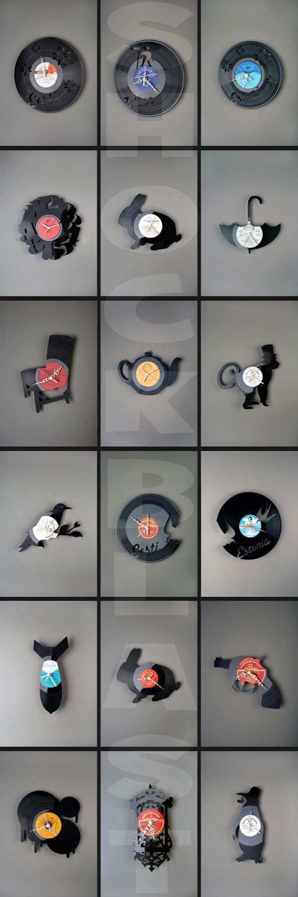 Wall Vinyl Clocks by Pavel Sidorenko @ ShockBlast