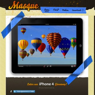 iPad app website designs