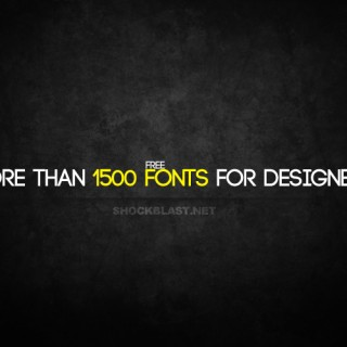 a collection of 1500+ Fonts to download