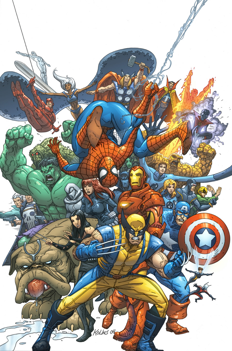 Some random marvel artworks i really love the colors and the way they