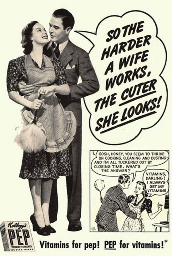 Funny Vintage Ads Women