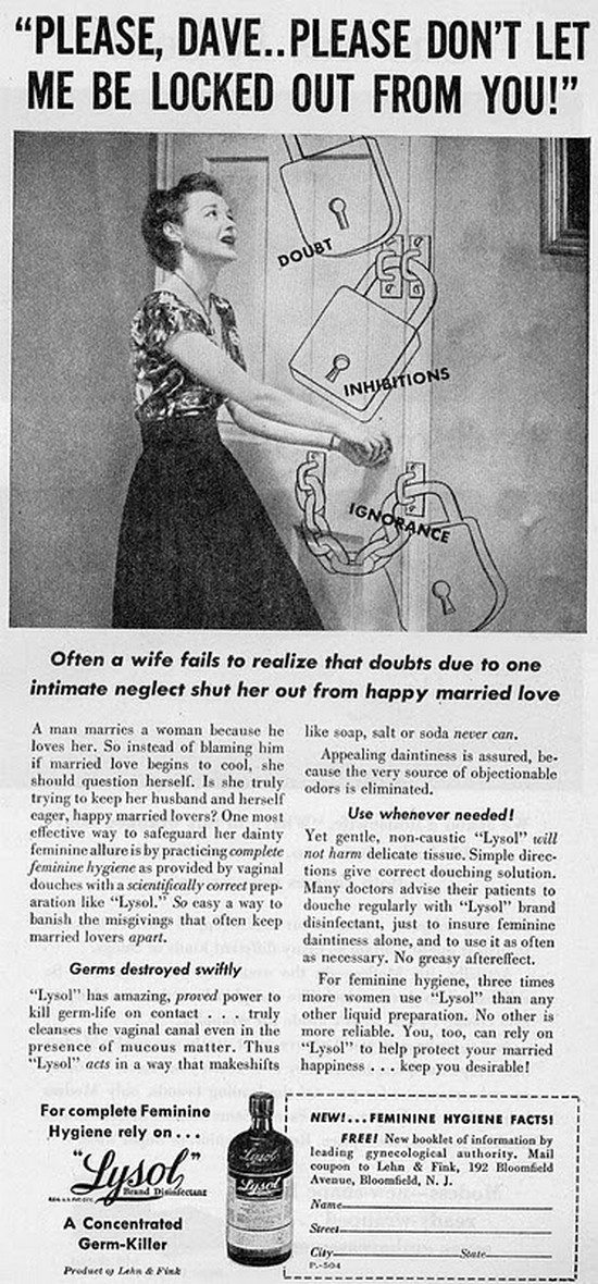 A collection of sexism Vintage Ads @ ShockBlast