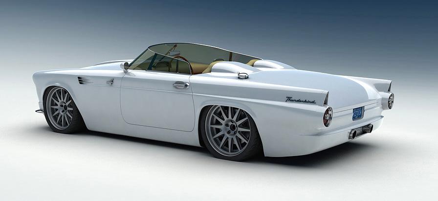 Custom Ford T Bird 1955 Shockblast