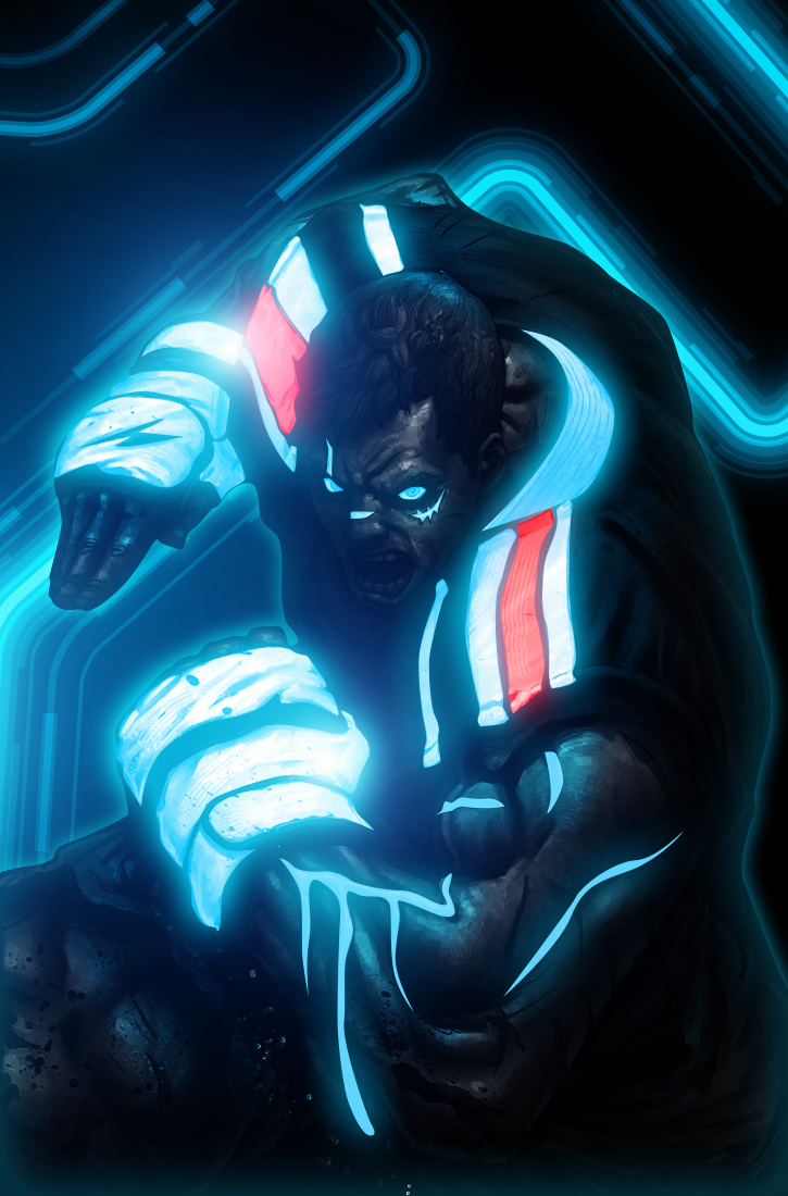Street Fighter Tron Version By Bosslogic Shockblast