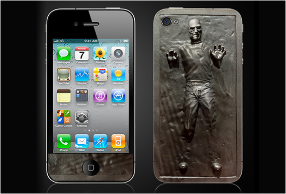 Steve Jobs in Carbonite   dailyshit design    steve jobs iphone dope cool case carbonite carbo apple    ShockBlast