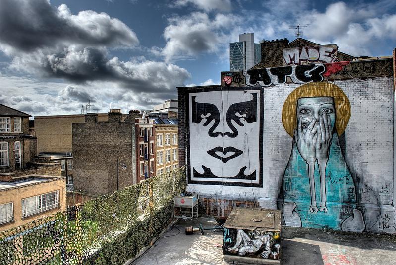obey bestever part2ism tamara mural   shockblast