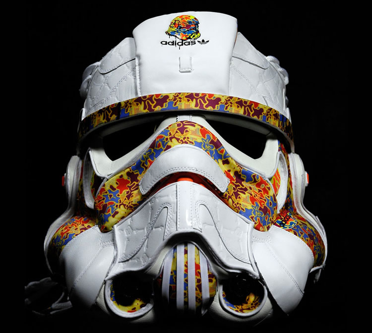 Adidas Sneakers Storm Trooper Helmet   dailyshit design       ShockBlast