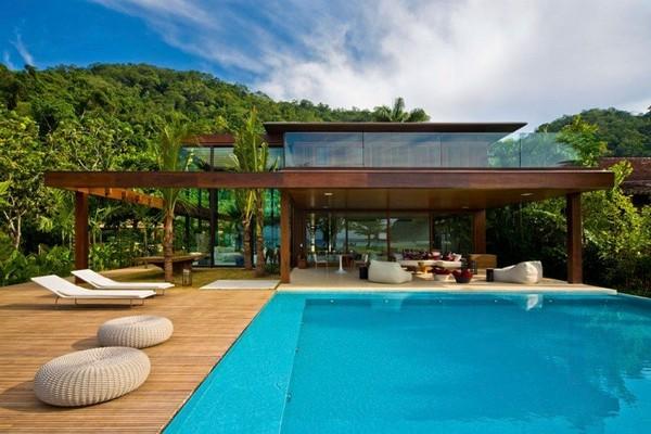 The cool blue villa& luxury bathroom minimalism