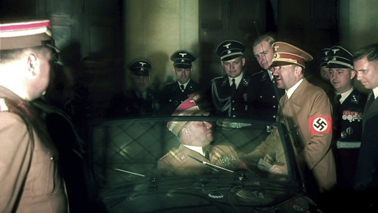 Rare WWII COLOR photos by Hugo Jaeger   photography dailyshit    World War third reich photography Mussolini life italy Italia II Hugo Jaeger Hitler history germany few Deutschland colour color Adolf 2    ShockBlast