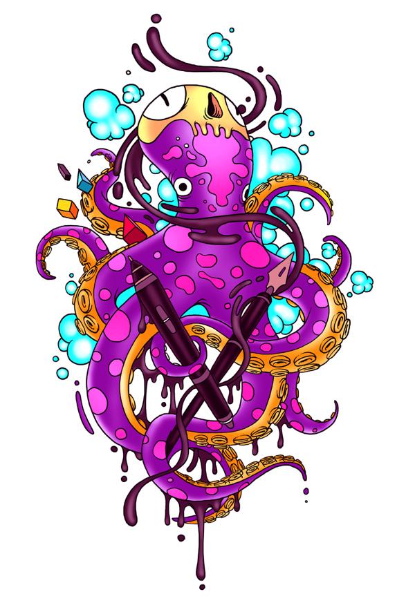 Raul Urias    worx   dailyshit design    illustrator illustrations illustration colorful color cmyk    ShockBlast
