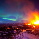 ShockBlast-the-beauty-of-planet-earth-Erupting-Volcano-with-Aurora-Iceland-531118