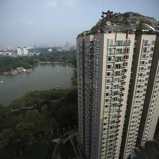 Illegal rock penthouse in Beijing