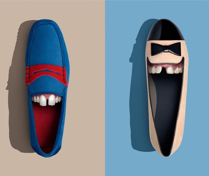 Zapatos con dentadura propia