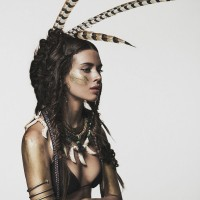 Nuria Nieva in Tribal Chic Fashion x Elle - ShockBlast