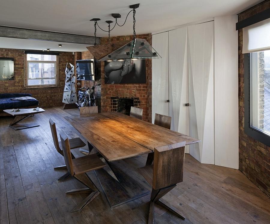 Beautiful soho warehouse loft apartment shockblast for Industrial wall design