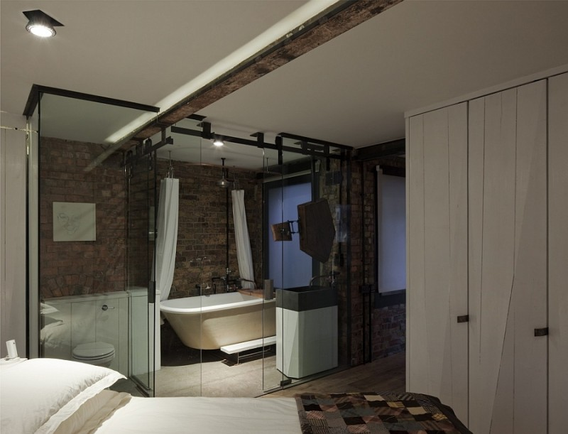 Lovely recessed lighting in the bedroom and en suite bath for Bedroom recessed lighting