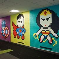 Superhero Post-It Mural - ShockBlast