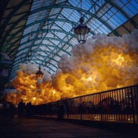 100,000 Balloons Inside London's Covent Garden Market - ShockBlast