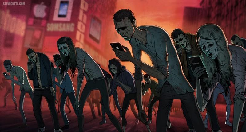 steve-cutts-worx-ShockBlast-social_media_zombies