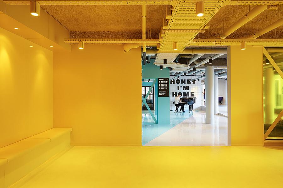 The student hotel shockblast for Industrial design amsterdam
