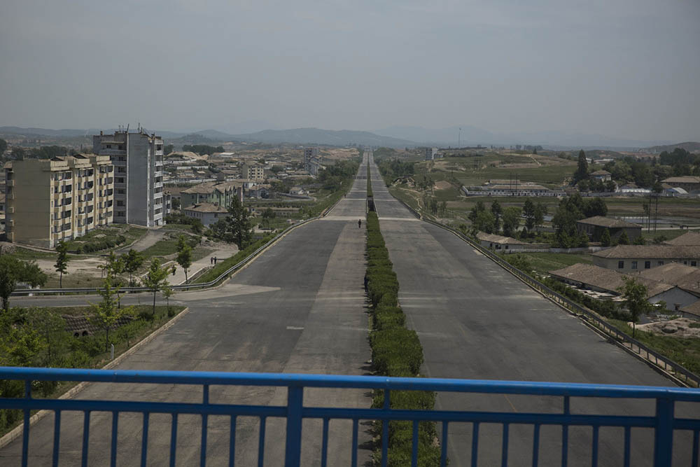 From a bridge in Kaesong, North Korea, looking south down the main highway to Panmunjom and the Demilitarized Zone. Photo by David Guttenfelder