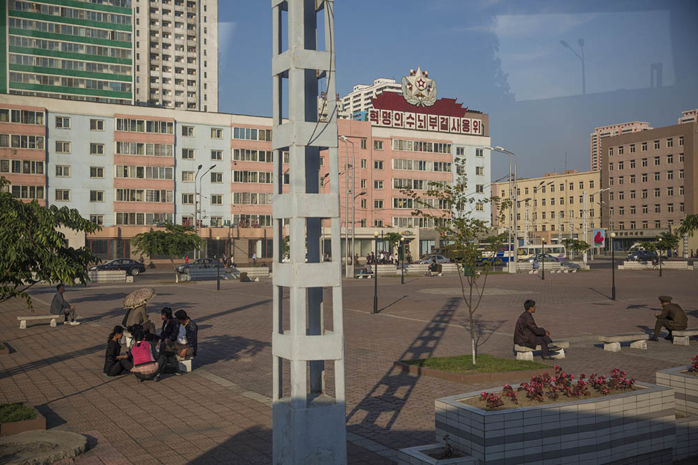 The square in front of Pyongyang Railway Station. Photo by David Guttenfelder