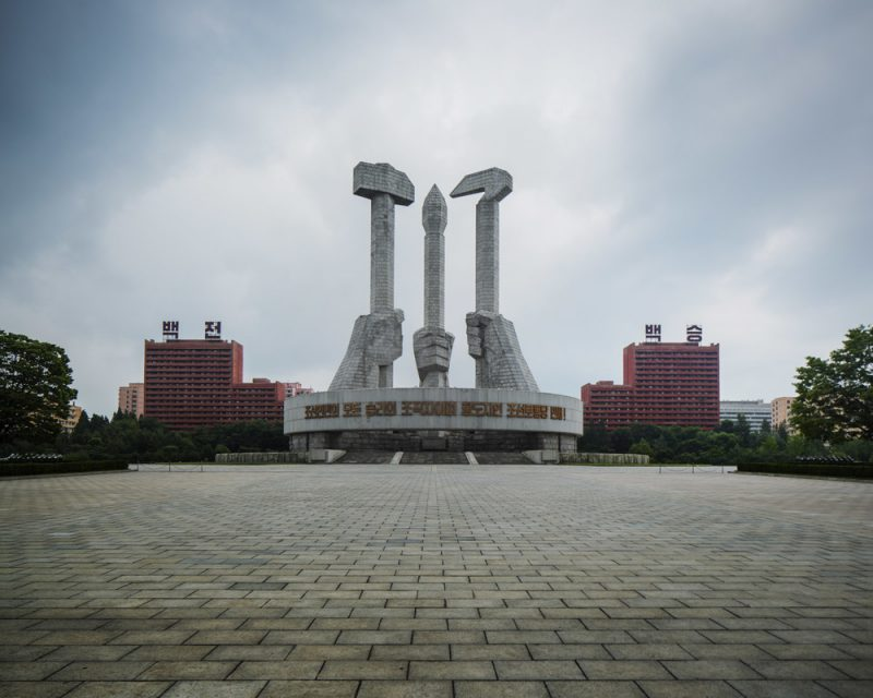 The Workers Party Foundation Monument, completed in 1995, is a more recent structure yet very much in the architectural line of Pyongyang, made from raw granite stone, it just radiates harshness, struggle and strength.