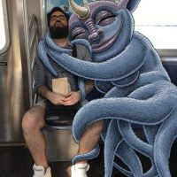 Subway Doodle's Monsters Invade New York Commutes - ShockBlast